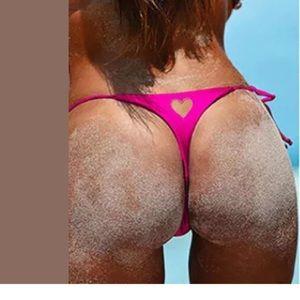 Swim - Hot barbie pink heart string bikini bottoms rave